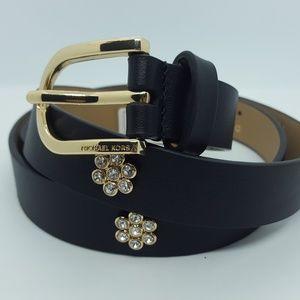 Michael Kors flower studded black belt - Small